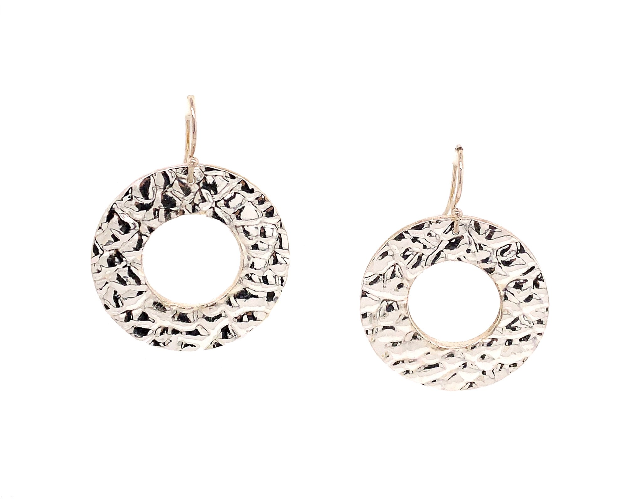 Jewel Lab  Fine Silver    Silver Earrings Urban Jungle Selvatica (croc) Round Earrings