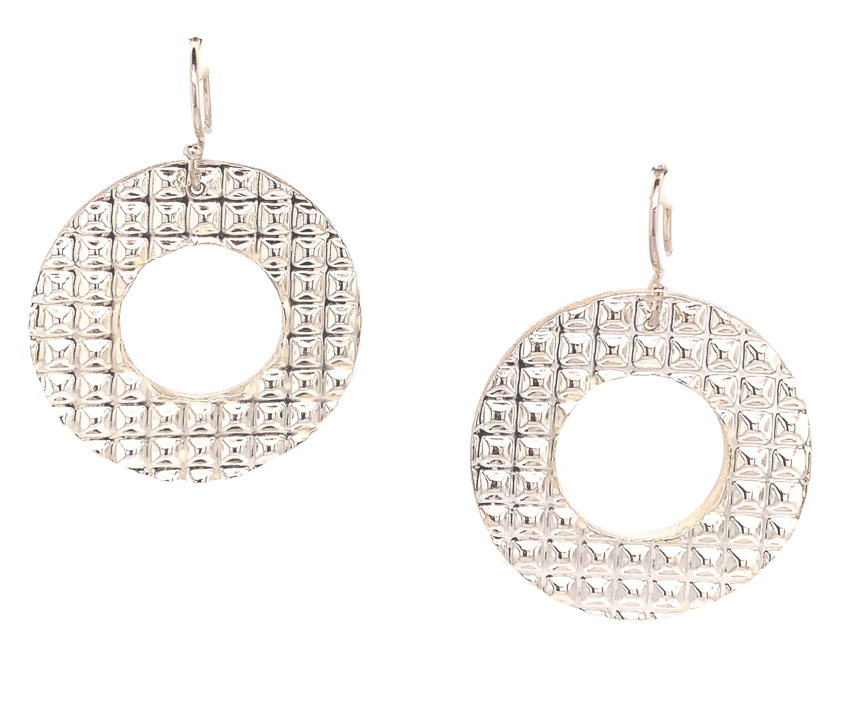 Jewel Lab  Fine Silver    Silver Earrings Urban Jungle Vulcano (croc) Round Earrings