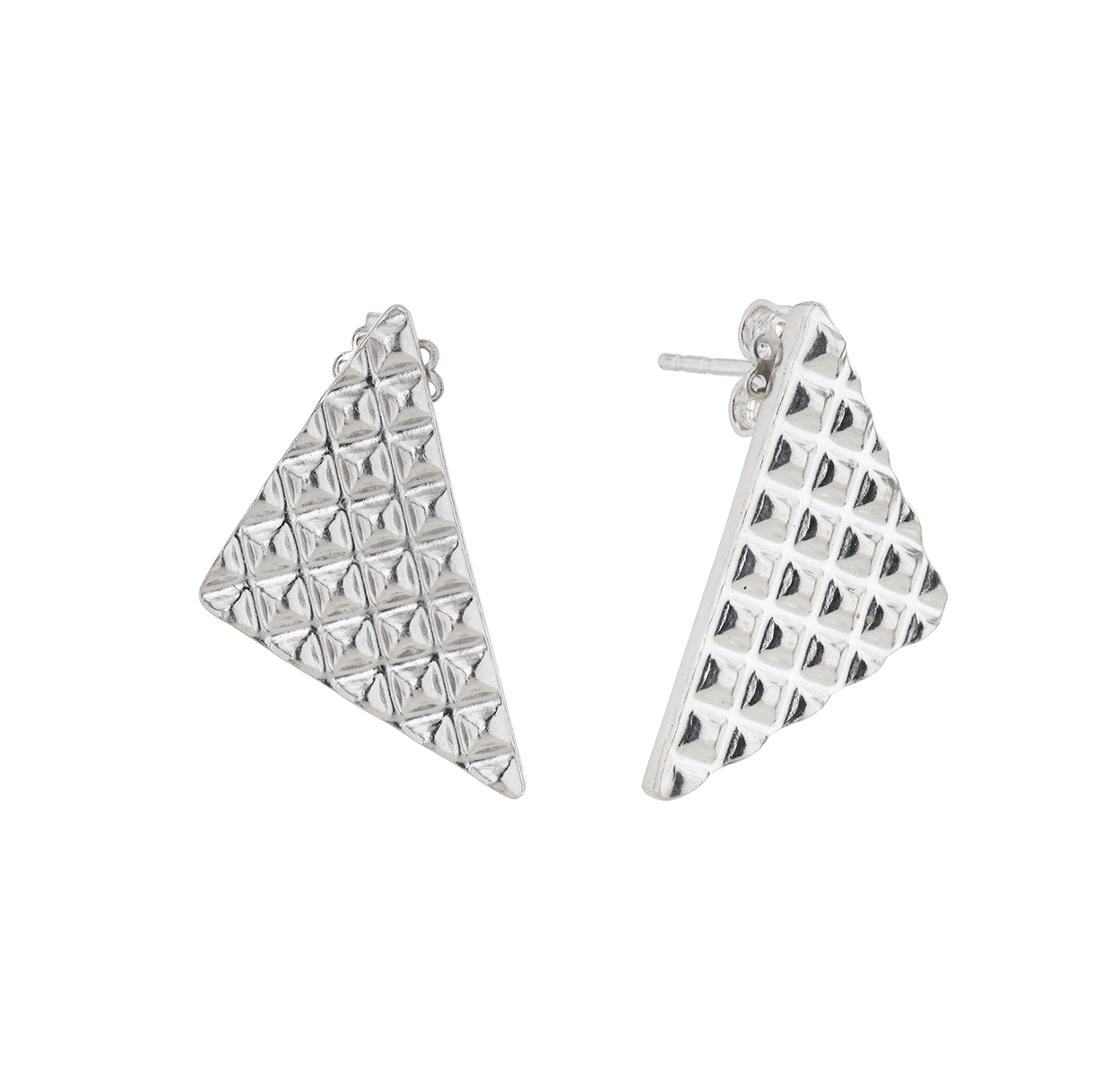 Jewel Lab  Fine Silver    Silver Earrings Urban Jungle Vulcano ((pixel) Triangle Earrings