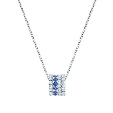 Maison Birks 18K White Gold .70cts  Diamonds Gold Necklace with Stones 450008874392