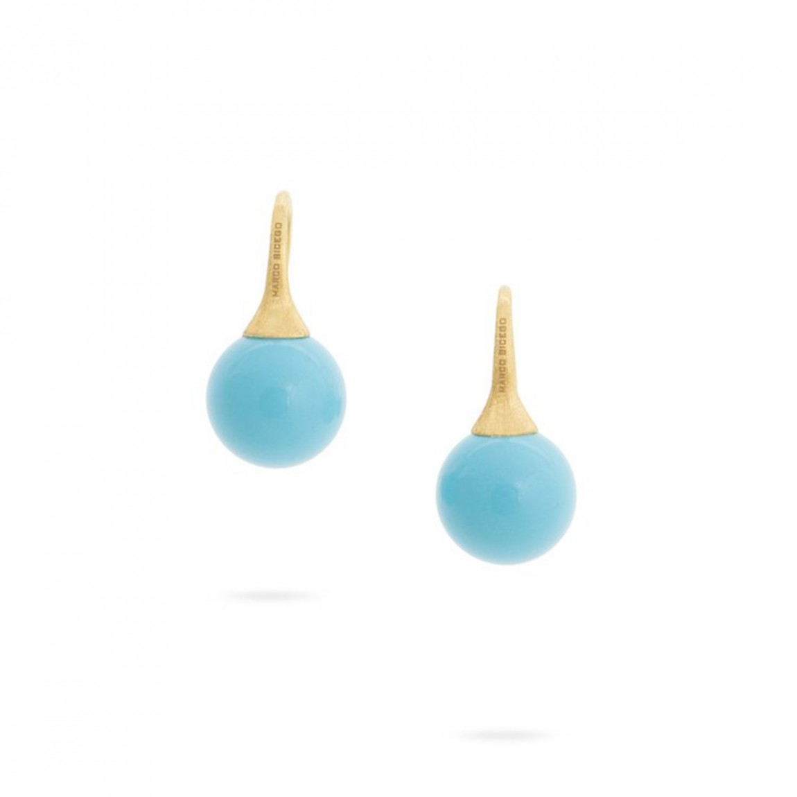 Marco Bicego 189K Yellow Gold   Turquoise Gold Earrings with Stones OB1639-A TU Y