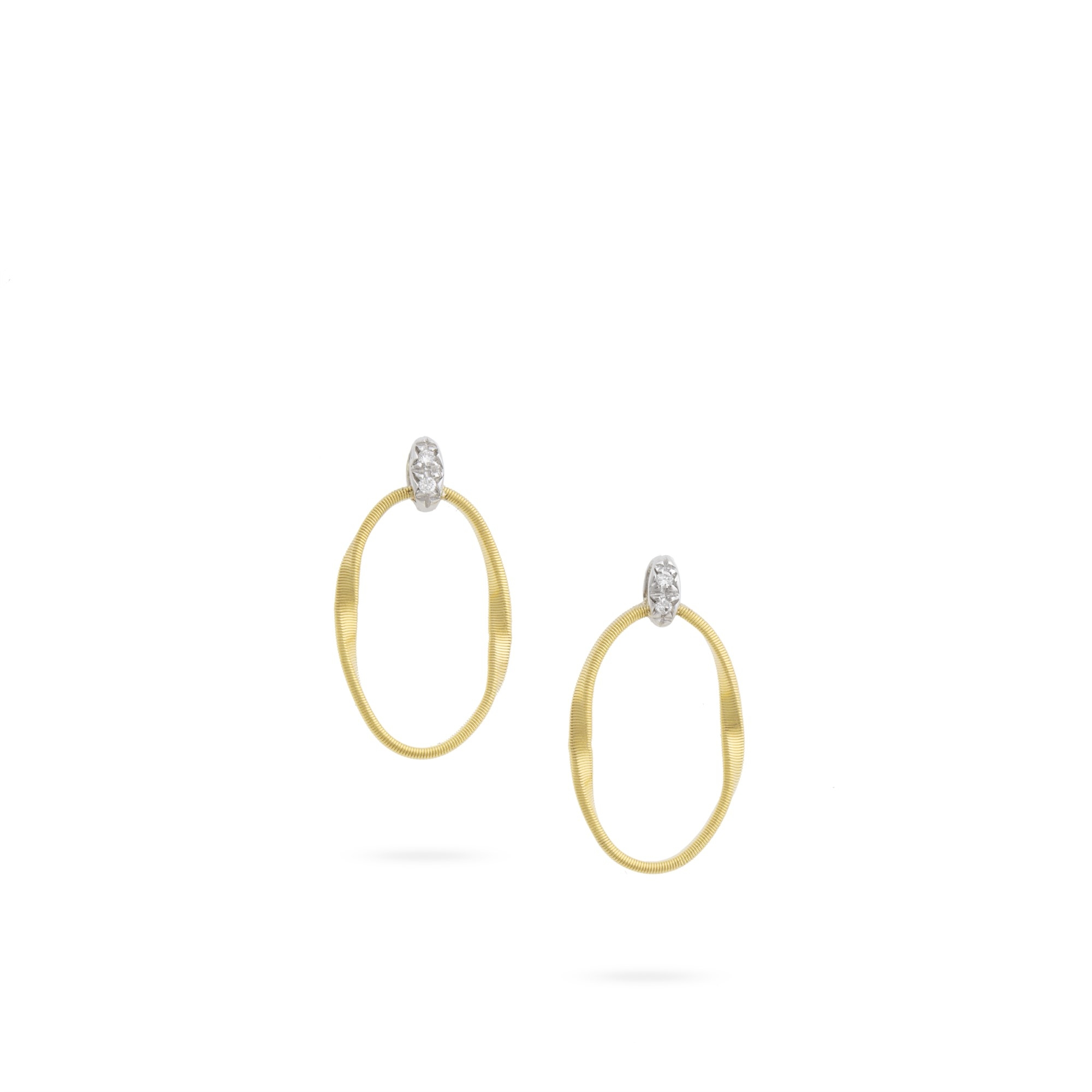 Marco Bicego 18K Yellow Gold .03cts  Diamonds Gold Earrings with Stones OG367 B YW