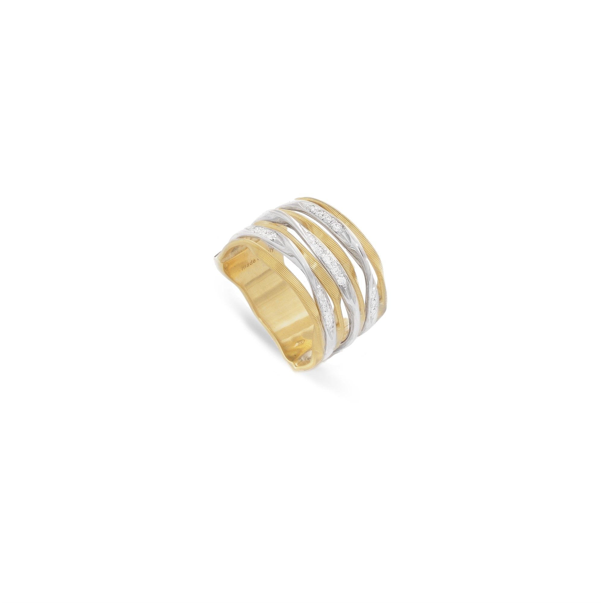 Marco Bicego 18K Yellow Gold .16cts  Diamonds Gold Ring with Stones AG350 B YW