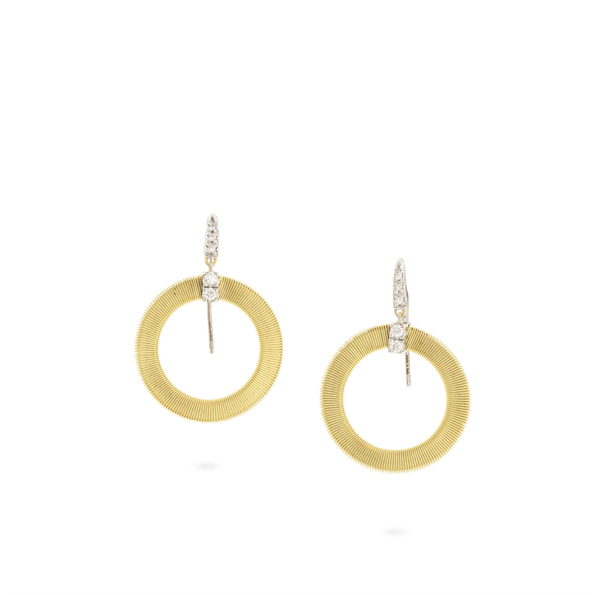 Marco Bicego 18K Yellow Gold .18cts  Diamonds Gold Earrings with Stones OG378-AB B YW
