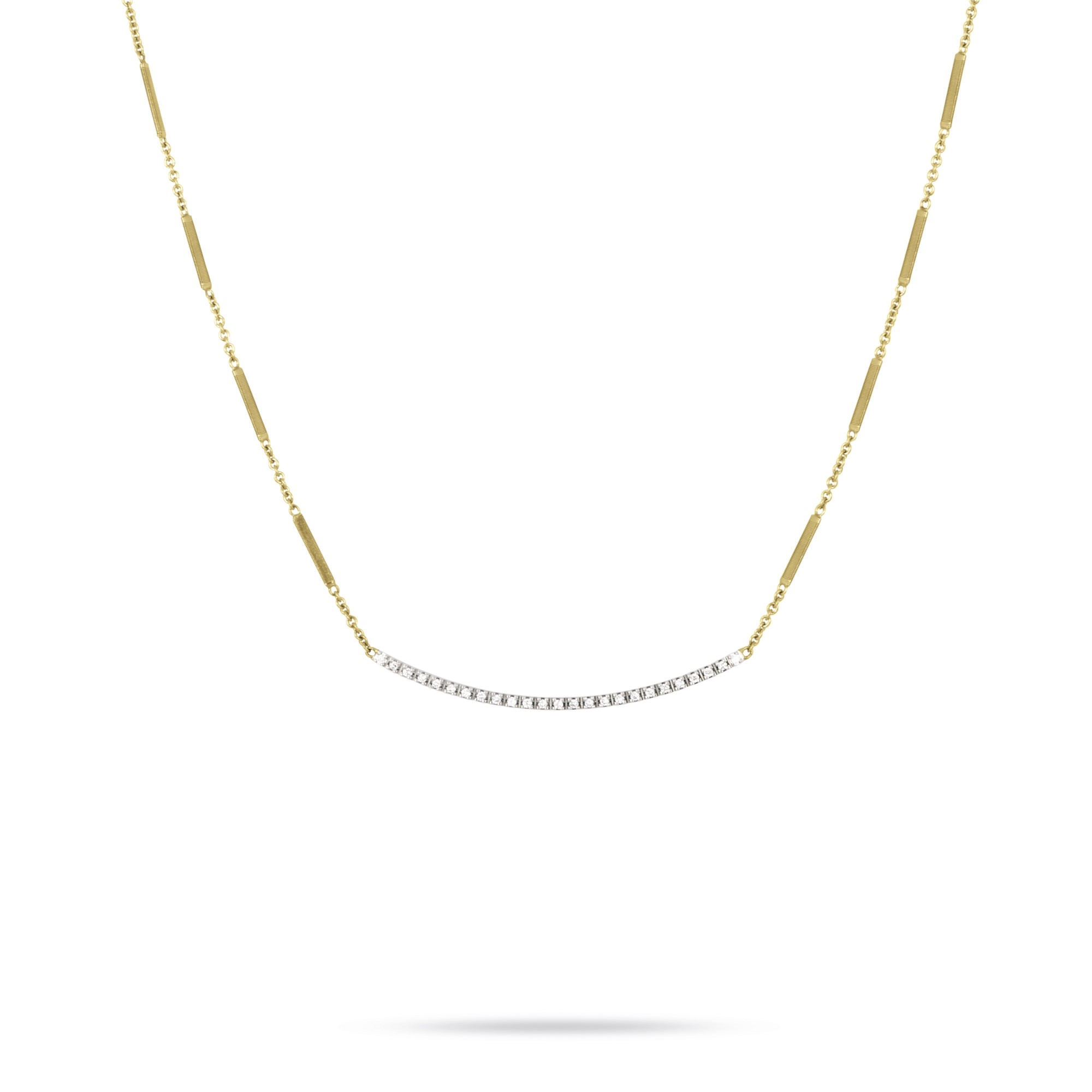 Marco Bicego 18K Yellow Gold .19cts  Diamond Gold Necklace with Stones CG713-B YW