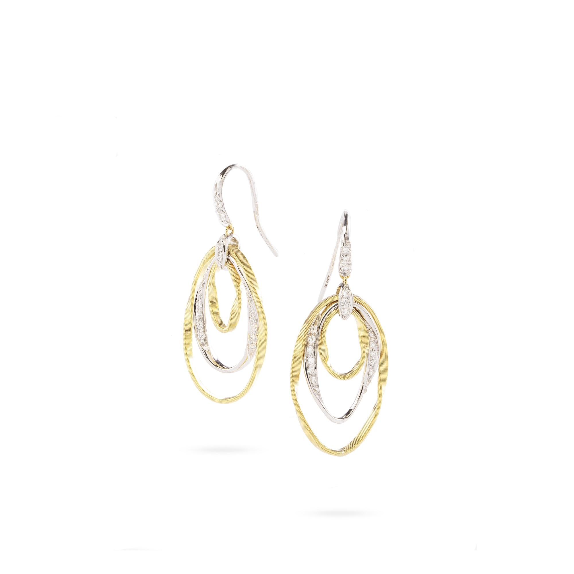 Marco Bicego 18K Yellow Gold .31cts  Diamonds Gold Earrings with Stones OG387-A B YW