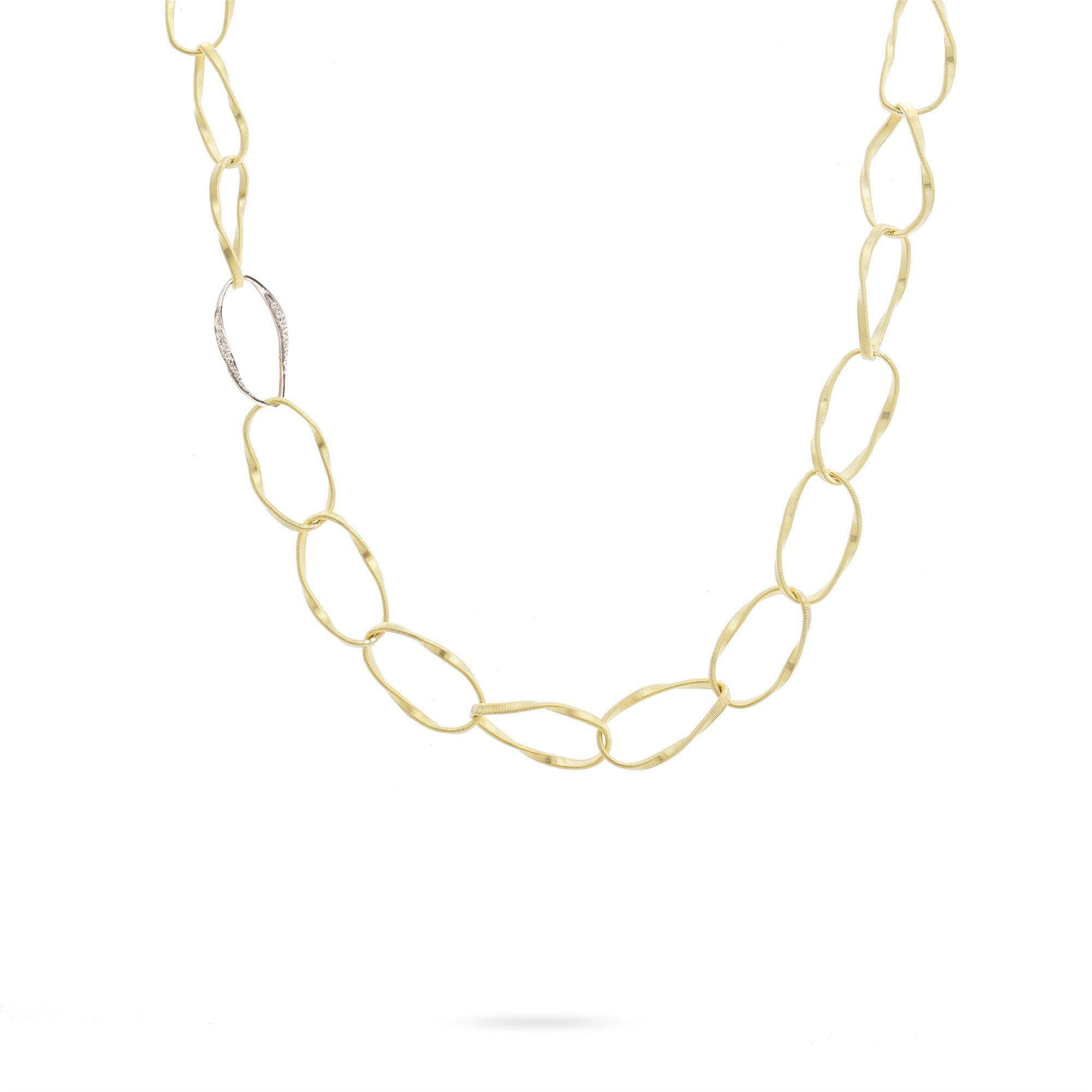 Marco Bicego 18K Yellow Gold .32cts  Diamonds Gold Necklace with Stones CG803 B YW