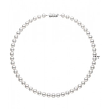Mikimoto 18K White Gold   Pearl Pearl Necklace U70118W