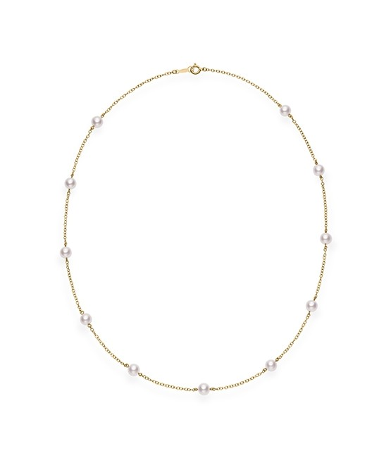 Mikimoto 18K Yellow Gold    Pearl Necklace PC158LK