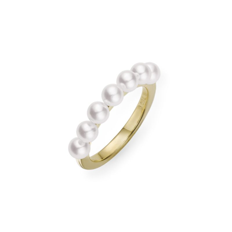 Mikimoto 18K Yellow Gold   Pearls Pearl Rings MRQ10045AXXW
