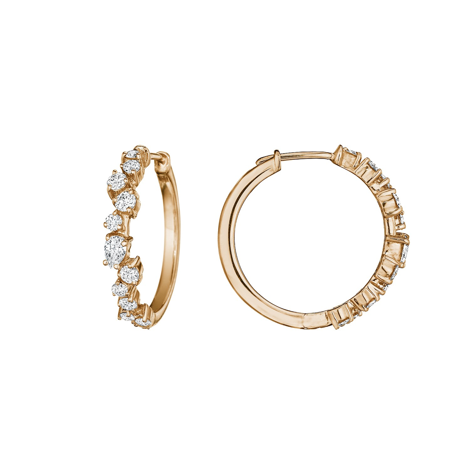 Penny Preville 18K Rose Gold .71cts  Diamonds Gold Earrings with Stones E4299R