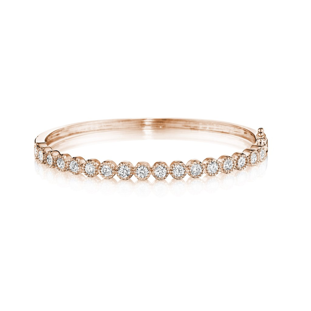 Penny Preville 18K Rose Gold 1.7cts  Diamonds Gold Bangle with Stones B7630RDIA