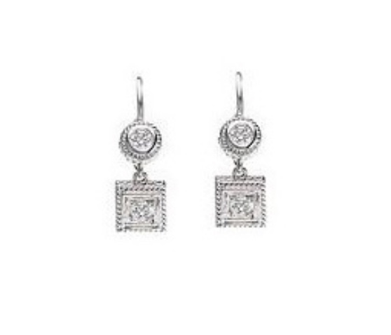 Penny Preville 18K White Gold .40cts  Diamonds Gold Earrings with Stones E3000W
