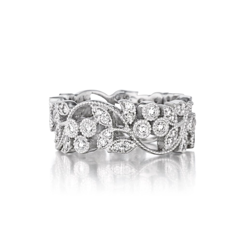 Penny Preville 18K White Gold .72cts  Diamonds Gold Ring with Stones R6207W