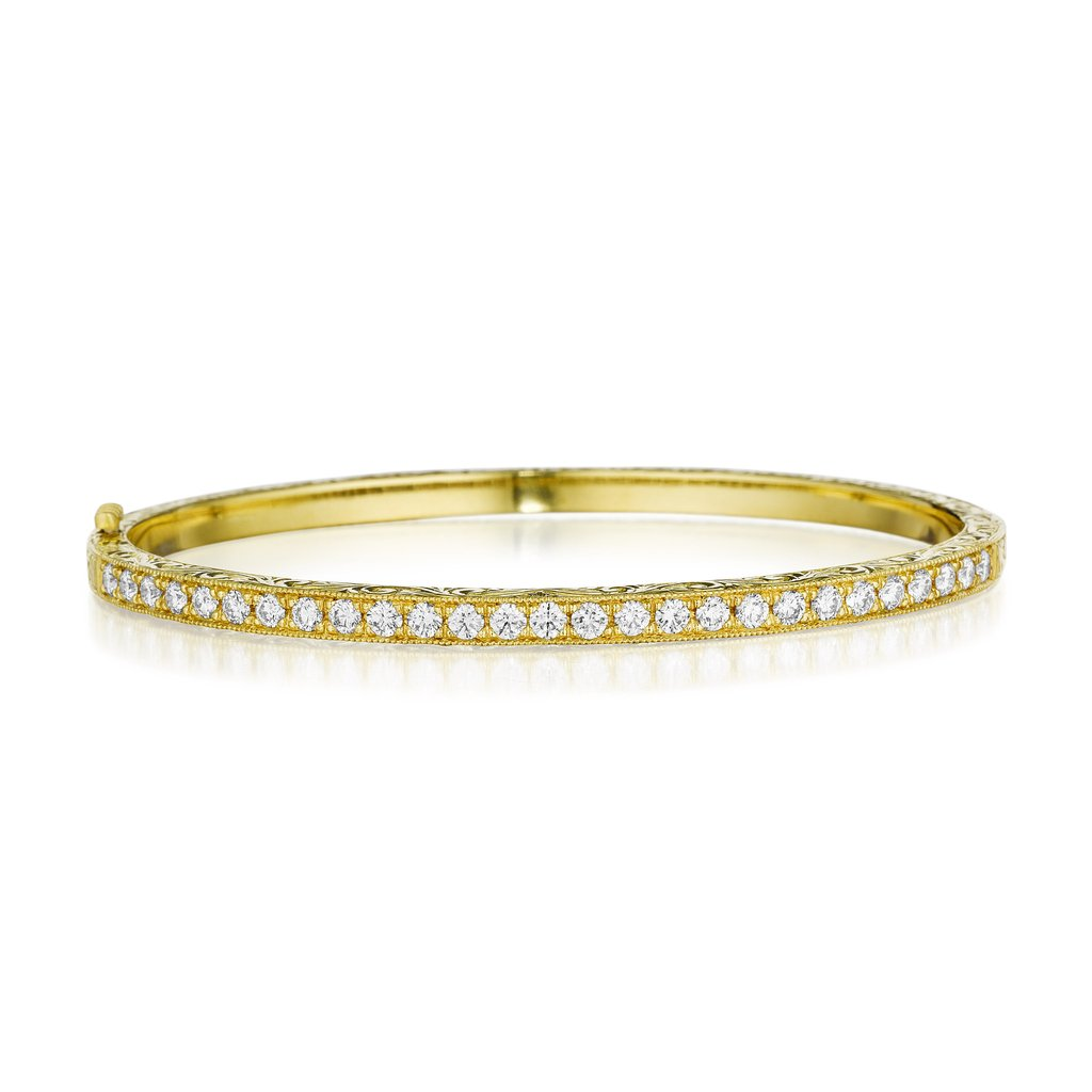 Penny Preville 18K Yellow Gold 1.35cts  Diamonds Gold Bangle B7182G