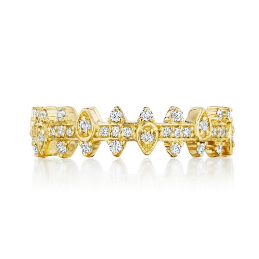 Penny Preville 18k Yellow Gold .48cts  Diamonds Gold Ring with Stones R7577G