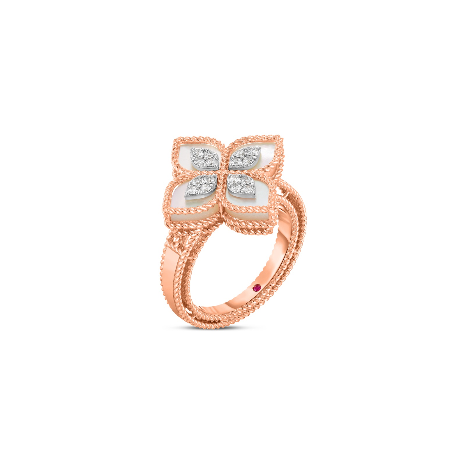 Roberto Coin 18K Rose Gold .16cts  Diamonds Gold Ring with Stones 8882784AH65X