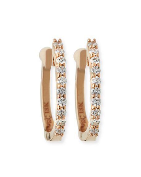 Roberto Coin 18K Rose Gold .20cts  Diamonds Gold Earrings with Stones 000466AXERX0