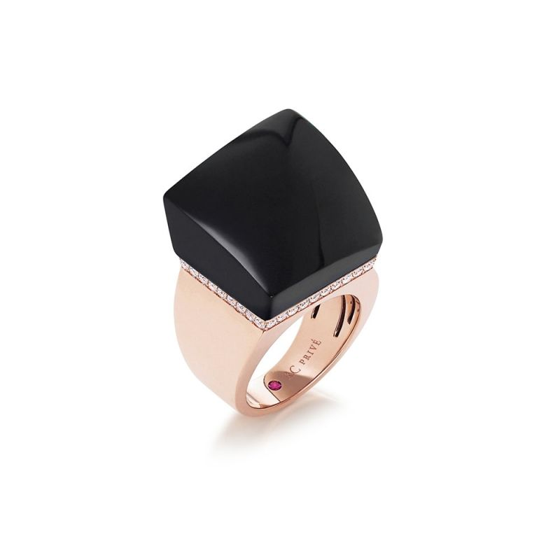 Roberto Coin 18K Rose Gold .50cts  Diamonds Gold Ring with Stones 8882318AX65J