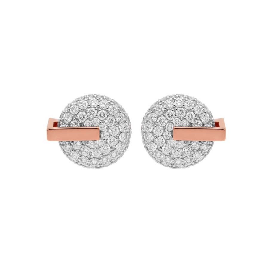 Roberto Coin 18K Rose Gold 1.85cts  Diamond Gold Earrings with Stones 8882315AXERX