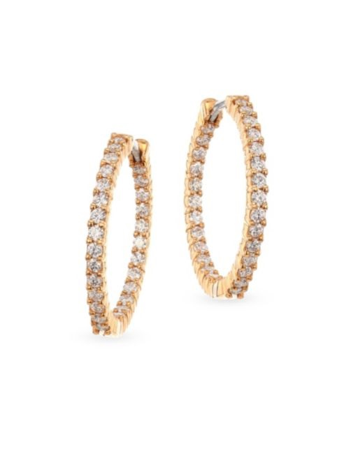 Roberto Coin 18K Rose Gold 3.43cts  Diamonds Gold Earrings with Stones 001041AXERX0