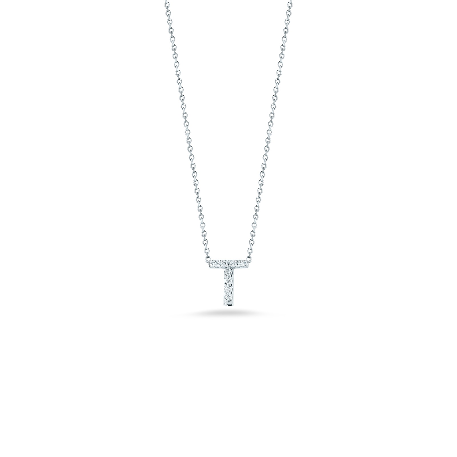 Roberto Coin 18K White Gold .04cts  Diamonds Gold Necklace with Stones 001634AWCHXT