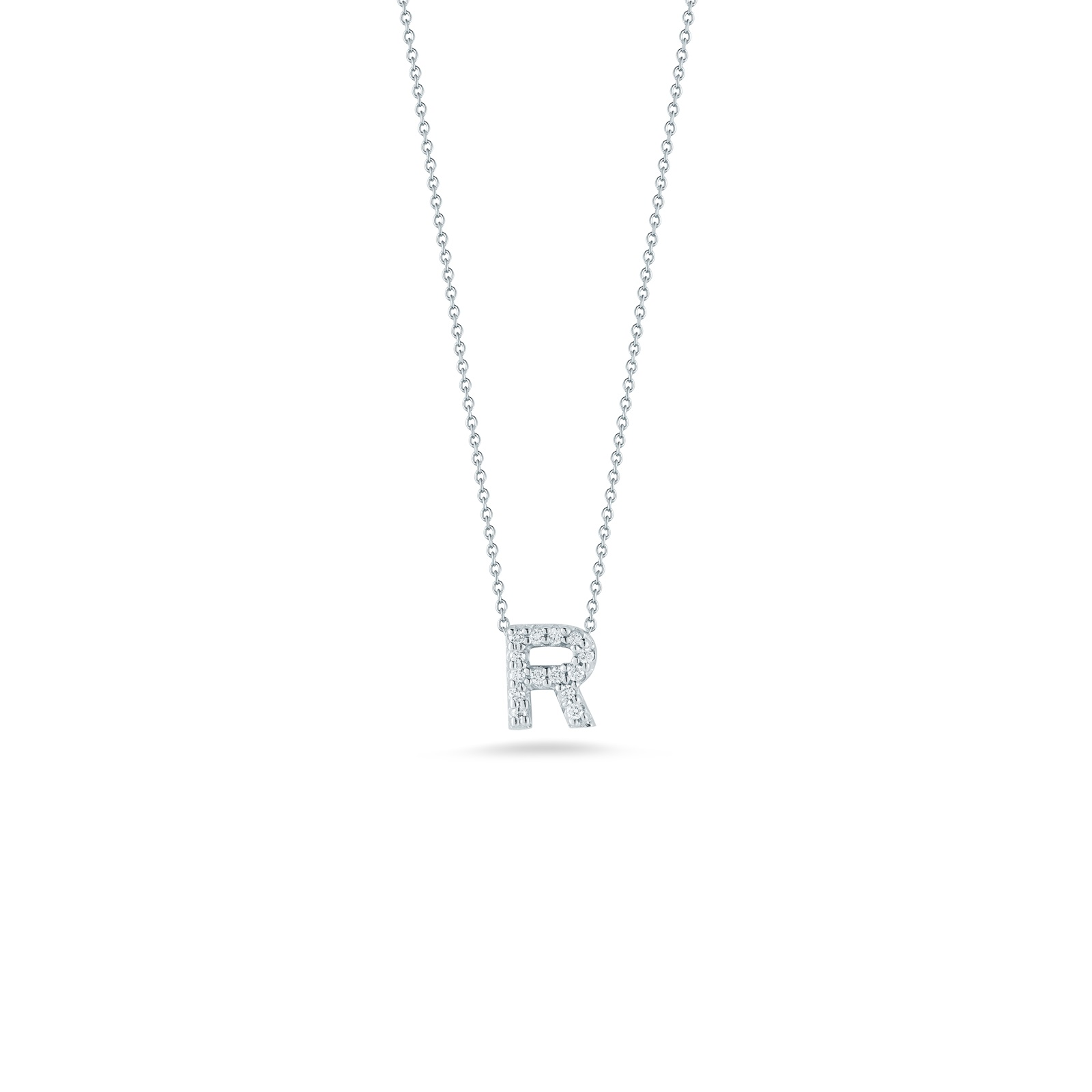 Roberto Coin 18K White Gold .06cts  Diamonds Gold Necklace with Stones 001634AWCHXR