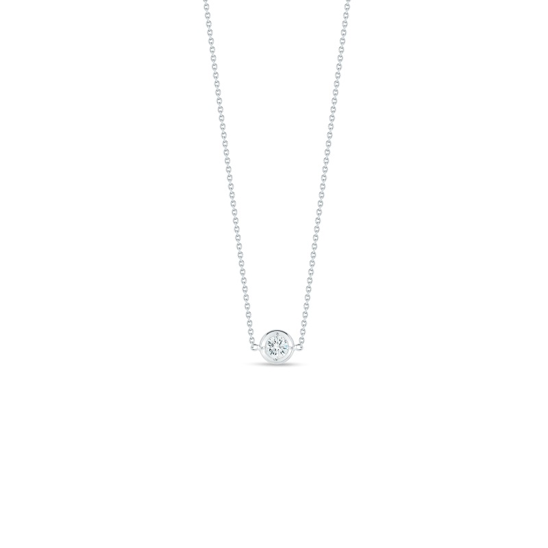 Roberto Coin 18K White Gold .10cts  Diamond Gold Necklace with Stones 001355AWCHD0