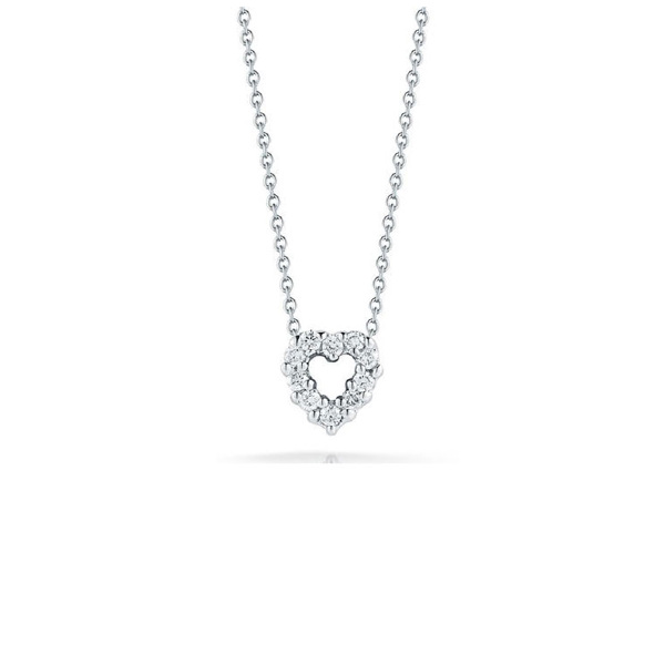 Roberto Coin 18K White Gold .11cts  Diamonds Gold Necklace with Stones 001616AWCHX0