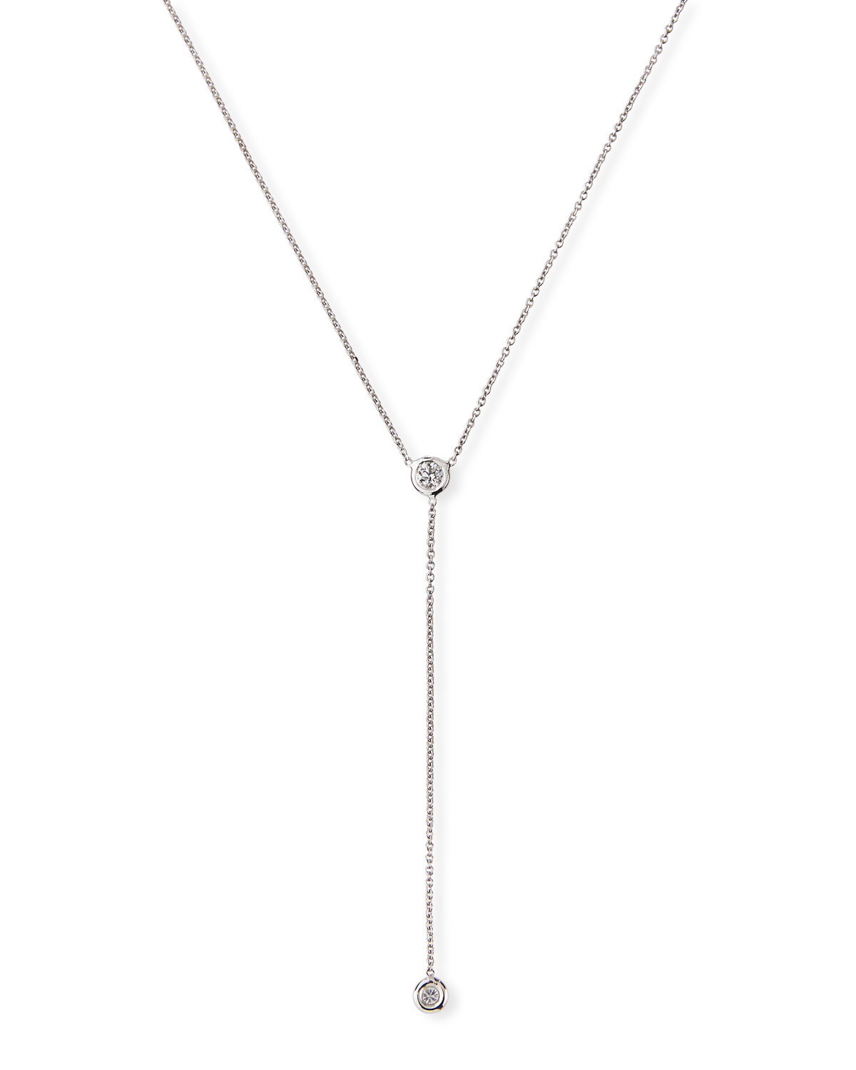 Roberto Coin 18K White Gold .15cts  Diamonds Gold Necklace with Stones 002102AWCHX0