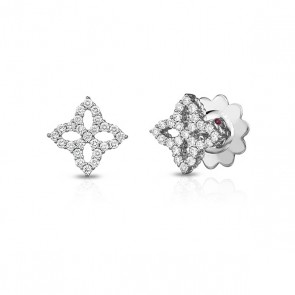 Roberto Coin 18K White Gold .32cts  Diamonds Gold Earrings with Stones 8882348AWERX