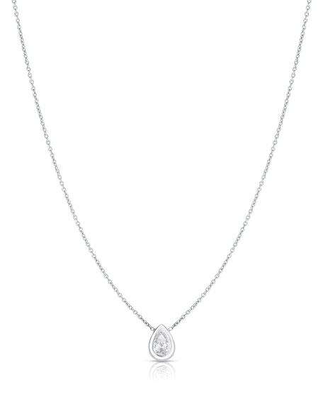 Roberto Coin 18K White Gold .38cts  Diamond Gold Necklace with Stones 111430AWCHX0
