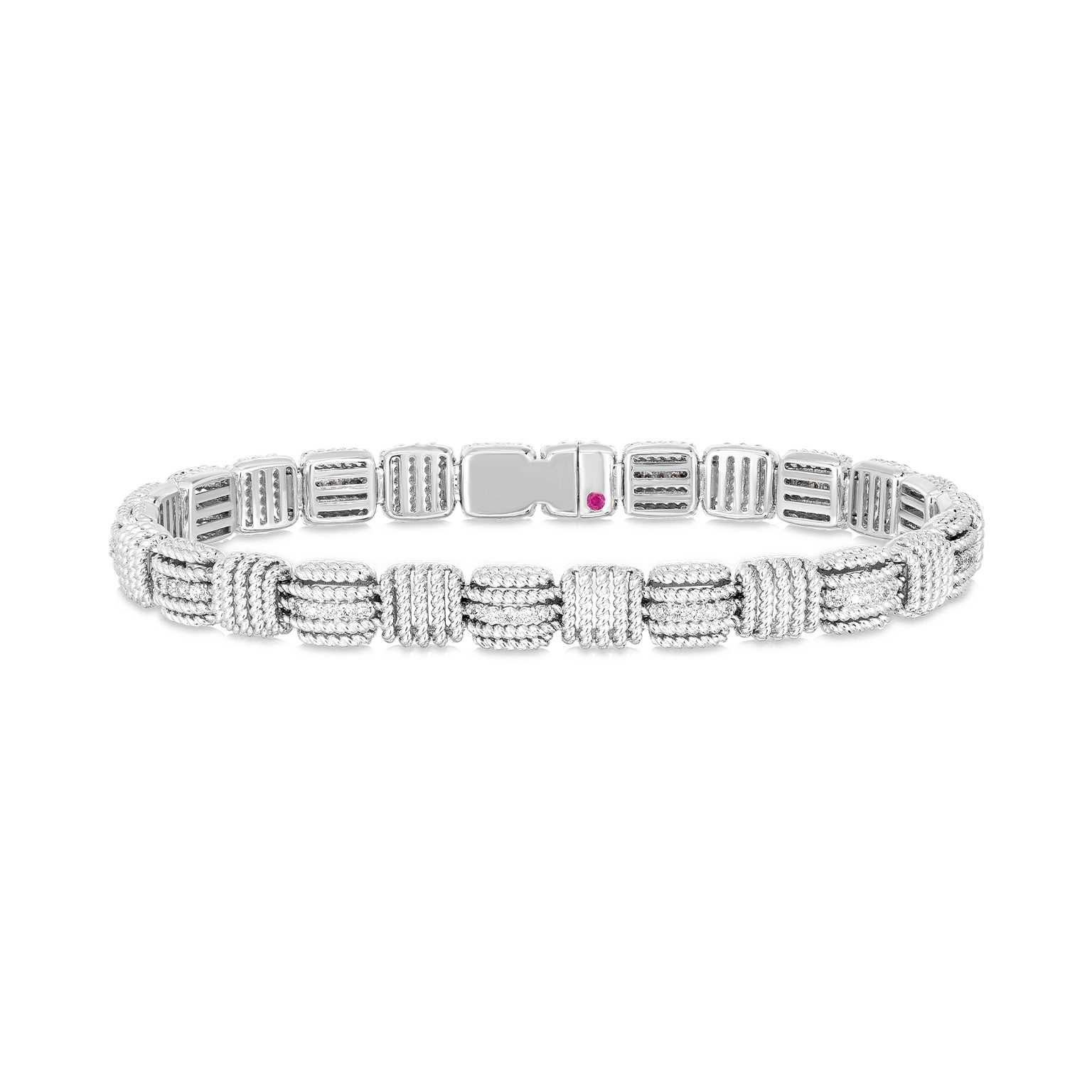 Roberto Coin 18K White Gold .54cts  Diamonds Gold Bangle with Stones 7772894AWLBX