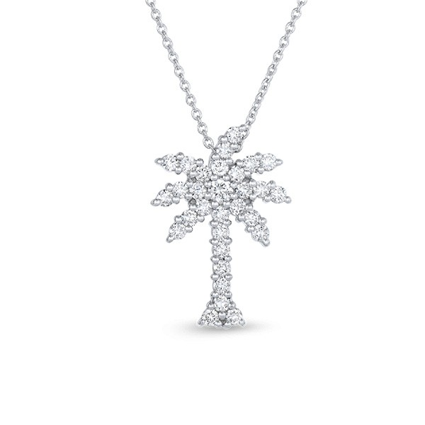 Roberto Coin 18K White Gold .54cts  Diamonds Gold Necklace with Stones 001145AWCHX0