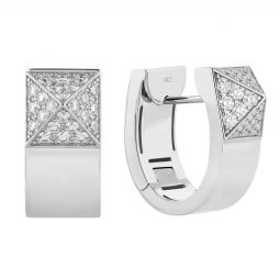 Roberto Coin 18K White Gold .82cts  Diamonds Gold Earrings with Stones 8882413AWERX