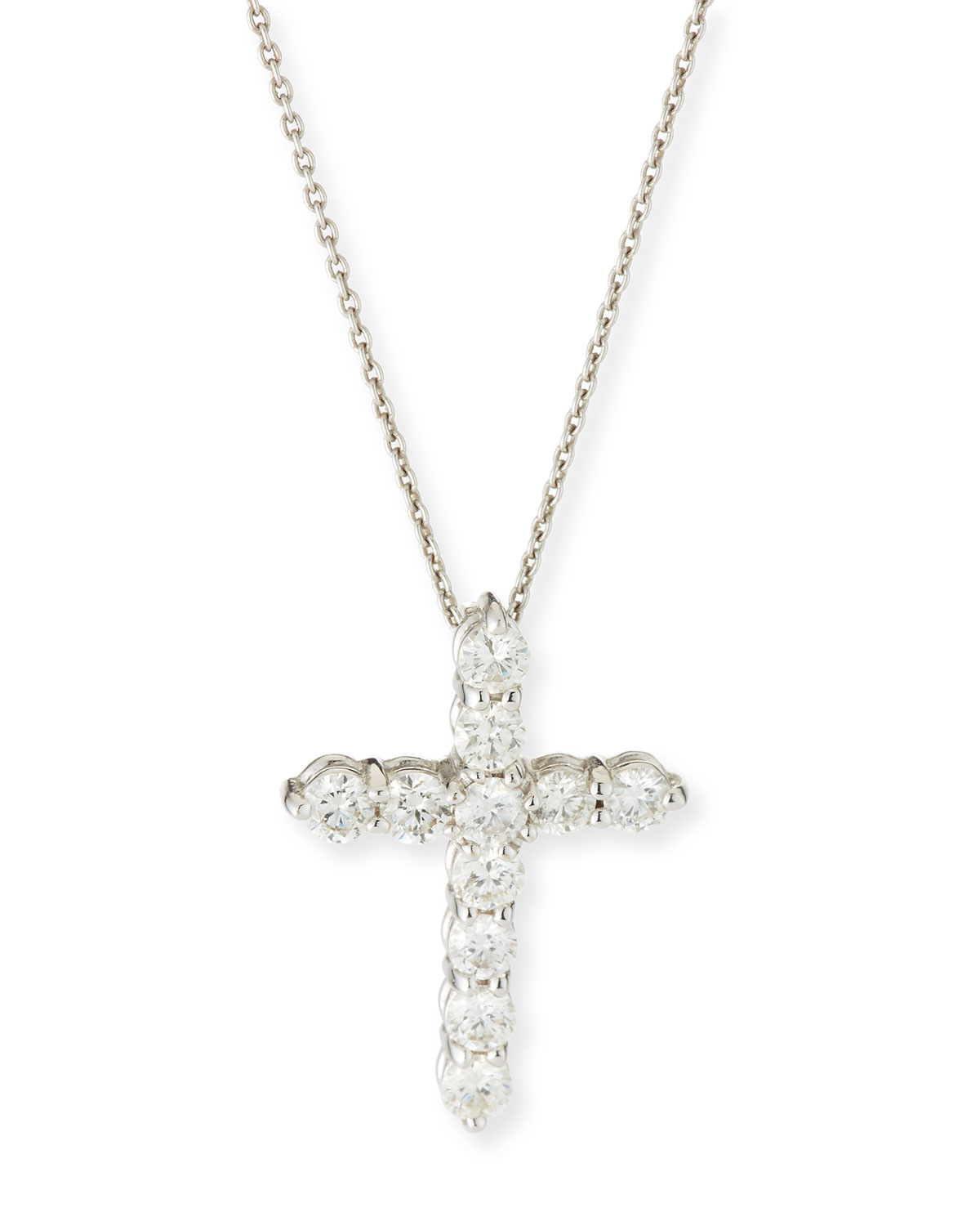 Roberto Coin 18K White Gold 1.77cts  Diamond Gold Necklace with Stones 001144AWCHX0