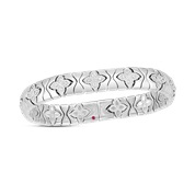 Roberto Coin 18K White Gold 1.79cts  Diamonds Gold Bangle with Stones 7773007AWBAX