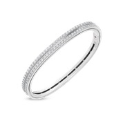 Roberto Coin 18K White Gold 1.91cts  Diamond Gold Bangle with Stones 7771884AWBAX