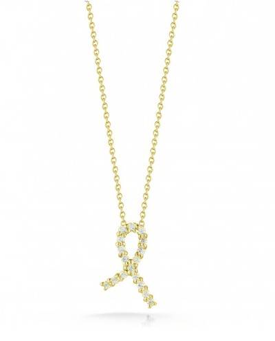 Roberto Coin 18K Yellow Gold .09cts  Diamond Gold Necklace with Stones 001251AYCHX0