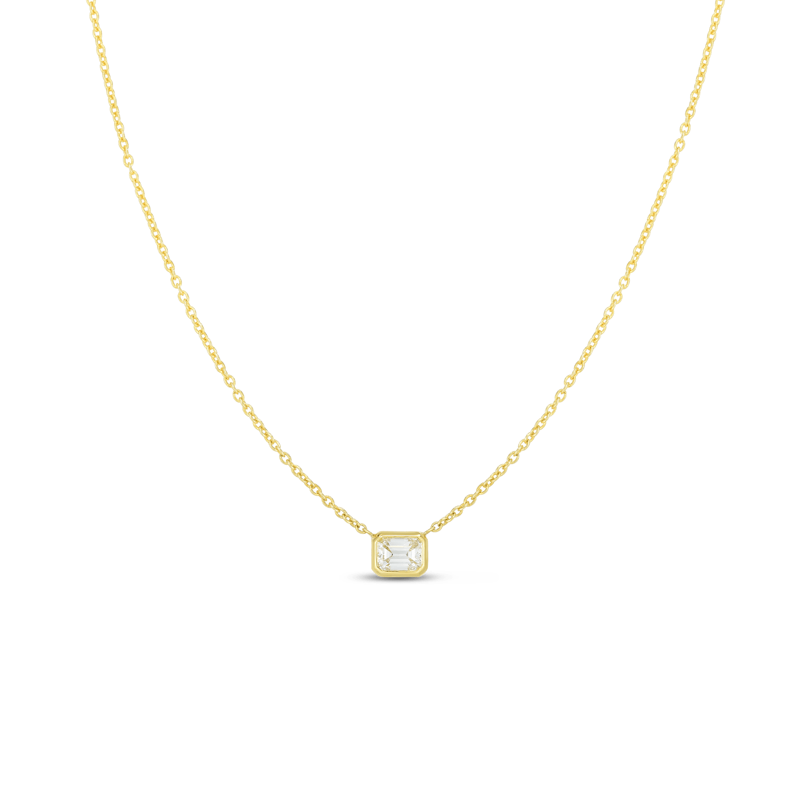 Roberto Coin 18K Yellow Gold .17cts  Diamond Gold Necklace with Stones 111365AYCHX0