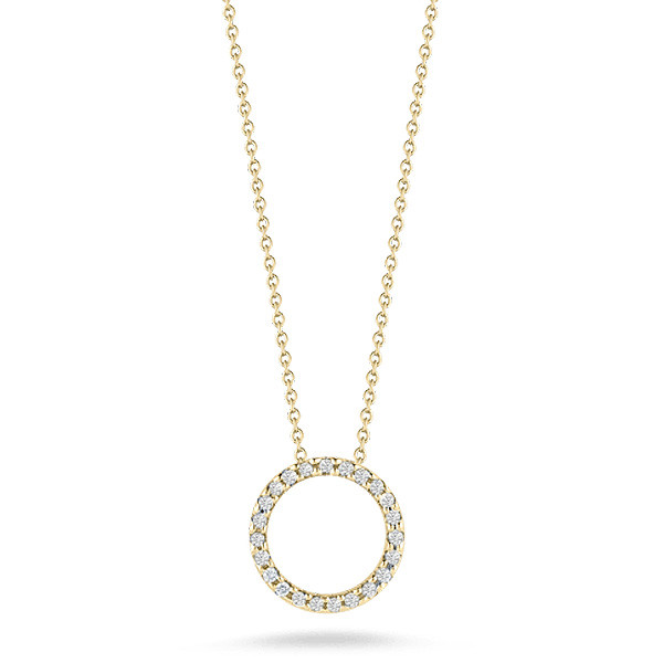 Roberto Coin 18K Yellow Gold .26cts  Diamond Gold Necklace with Stones 001259AYCHX0