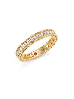 Roberto Coin 18K Yellow Gold .43cts  Diamond Gold Ring with Stones 7771359AY65X