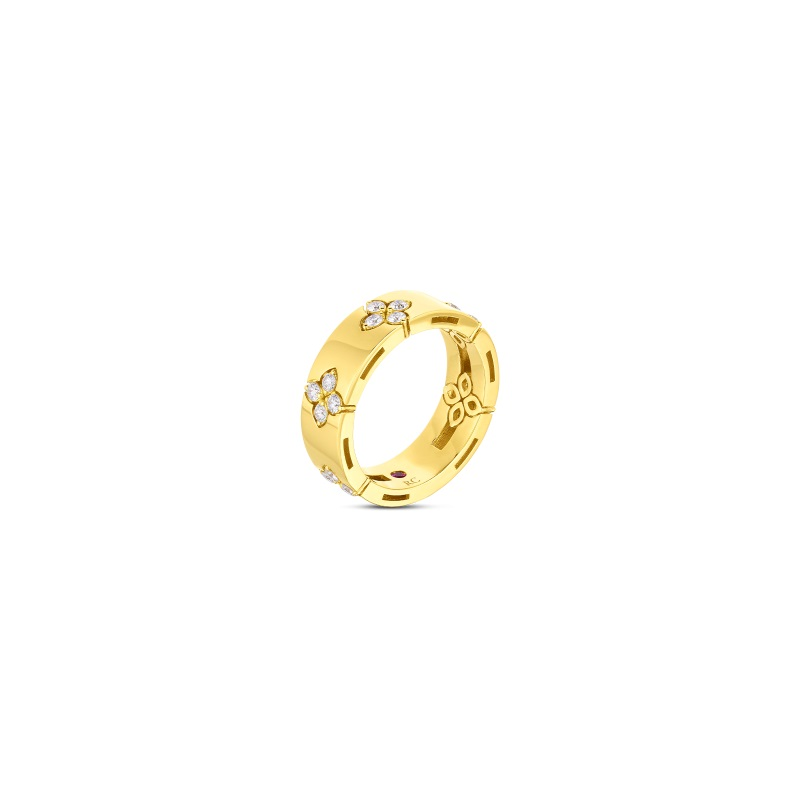 Roberto Coin 18K Yellow Gold .45cts  Diamonds Gold Ring with Stones 8882968AY65X