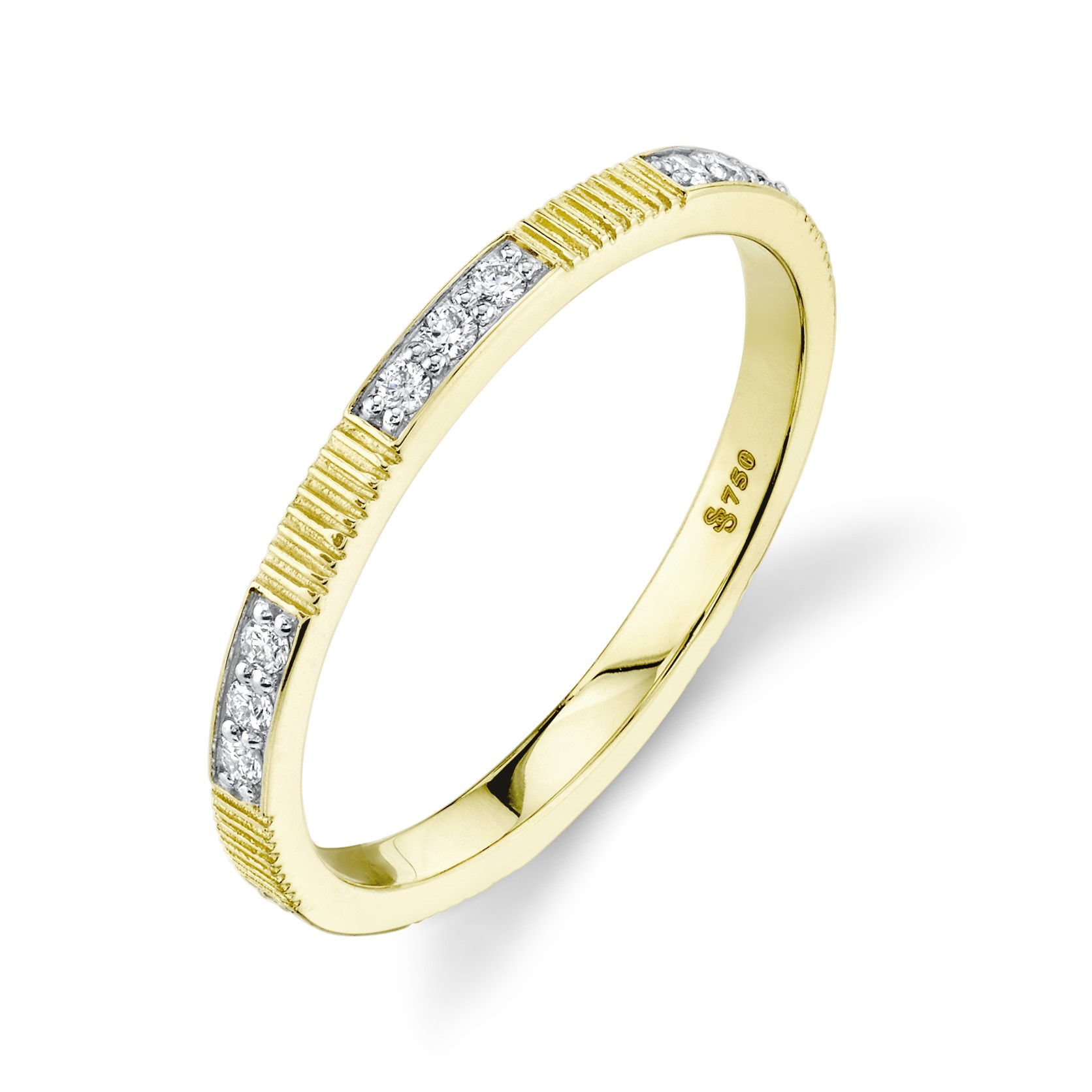 Sloane Street 18K Yellow Gold ..15cts  Diaamonds Gold Ring with Stones R023-WDCB-Y