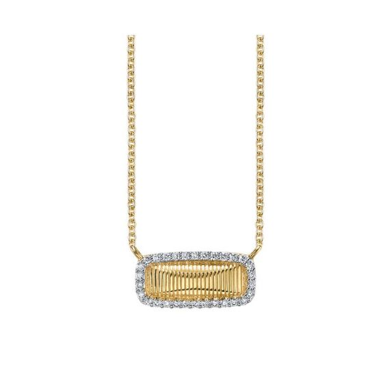 Sloane Street 18K Yellow Gold .15cts  Diamond Gold Necklace with Stones P026D-WDCB-Y