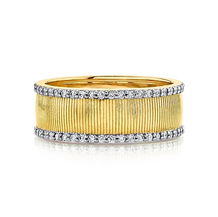 Sloane Street 18K Yellow Gold .47cts  Diamonds Gold Ring with Stones R001A-WDCB-Y