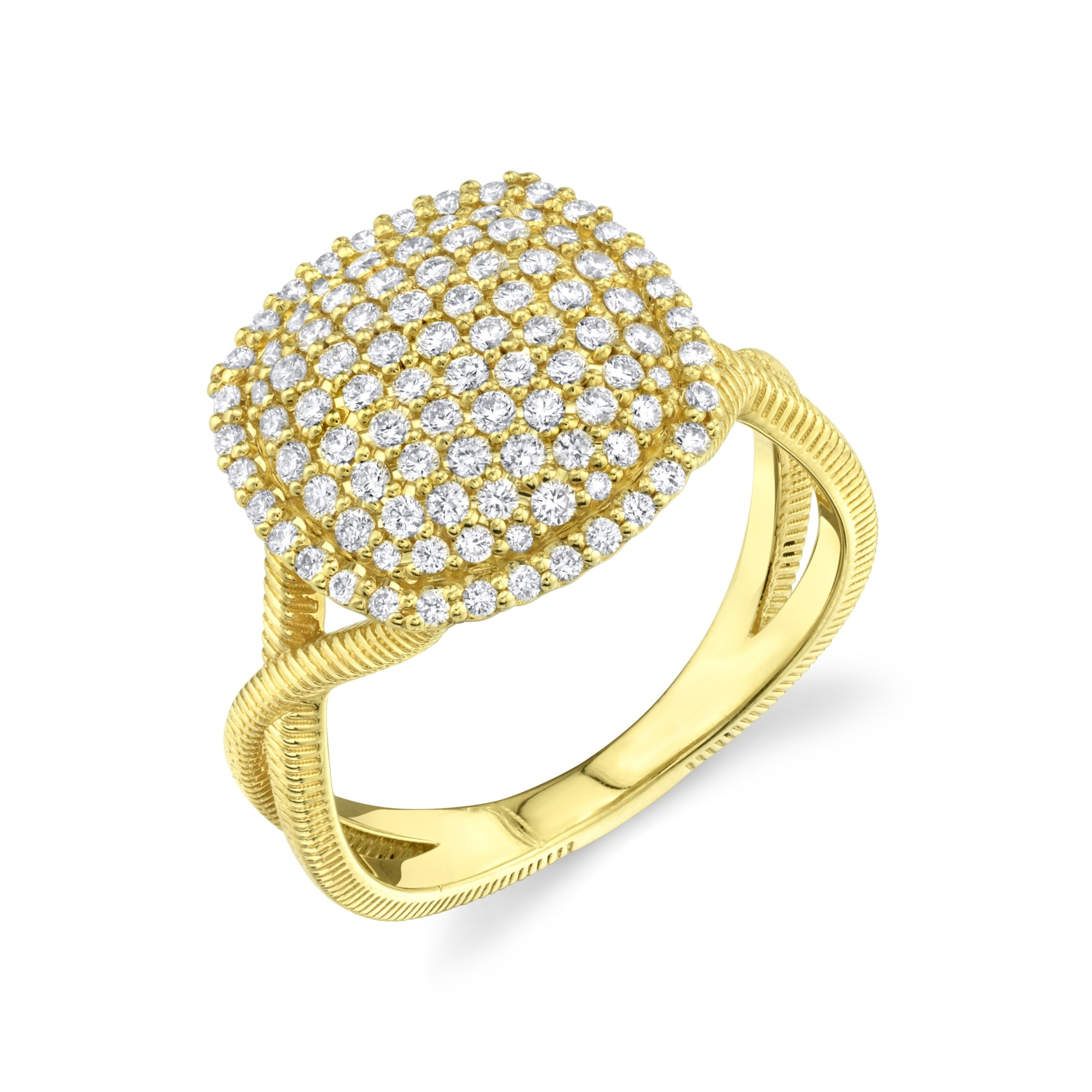 Sloane Street 18K Yellow Gold .68cts  Diamonds Gold Ring with Stones R012-WD-Y