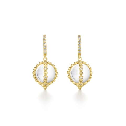 Temple St. Clair 18K Yellow Gold .42cts  Diamonds Gold Earrings with Stones E51803-R11SAS