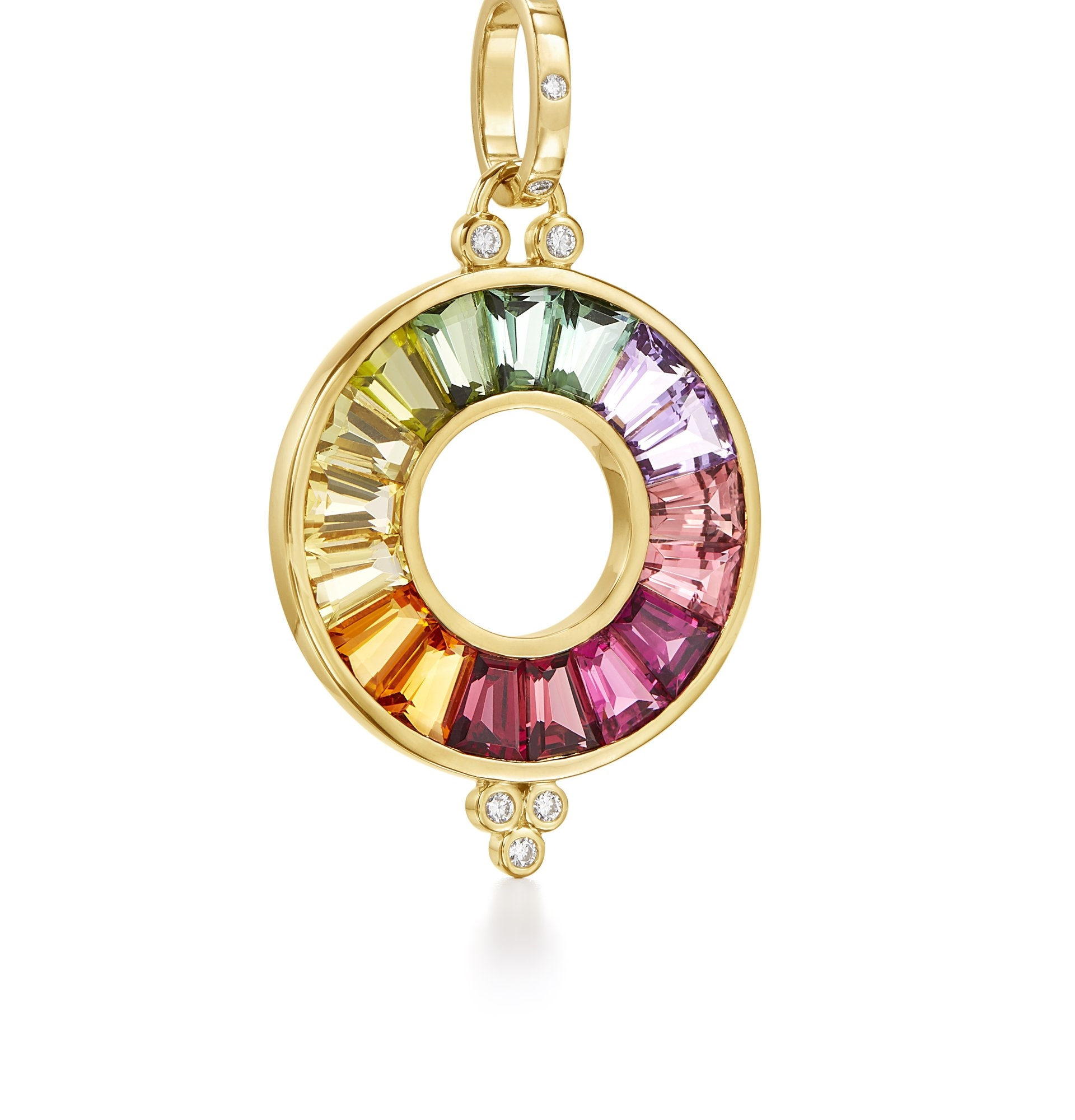 Temple St. Clair 18K Yellow Gold   Gemstones Gold Pendants / Charms P46123-LGHAMX