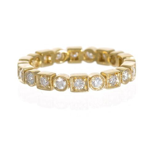 Penny Preville 18K Yellow Gold .55cts  Diamonds Gold Ring with Stones R3037G